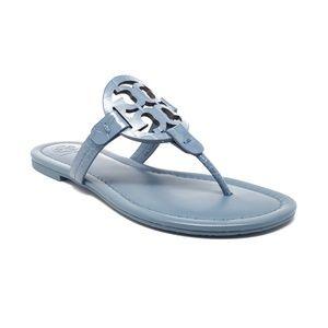 Tory Burch Miller Sandals Blue Yonder Size 7 & 7.5